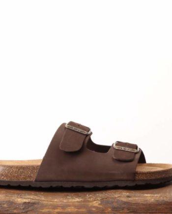 Klassisk mørkebrun sandal til mænd
