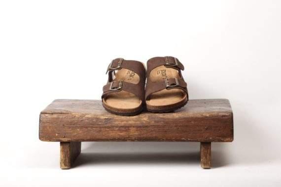 Mørkebrun sandal til mænd