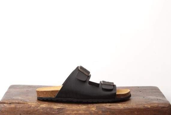 Sort sandal til mænd