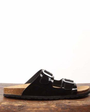 Sandal med sort glans