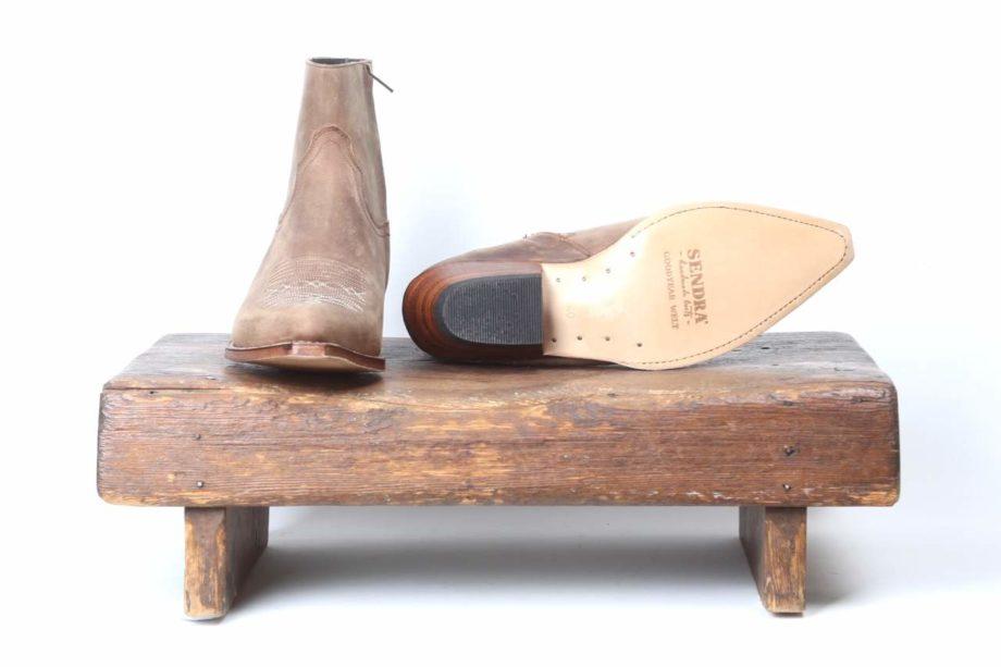 Brune læderstøvler fra Sendra