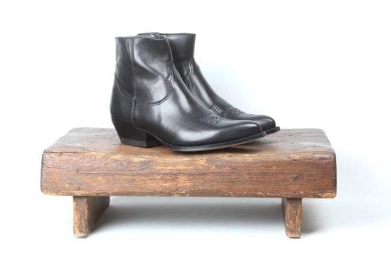 Sorte læderstøvler fra Sendra og Lædersmeden
