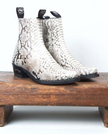 Hvide pythonstøvler fra Sendra