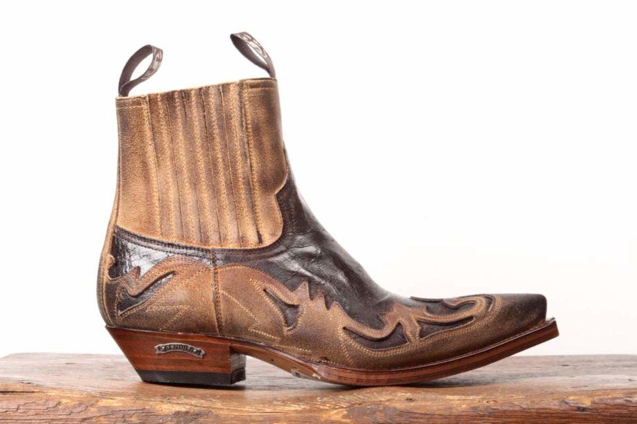 Sendra El Camino brune læderstøvler