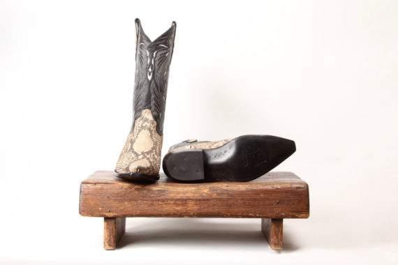 Slangeskindsstøvle fra Sendra