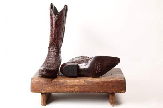 Brun krokodilleskindsstøvle fra Sendra