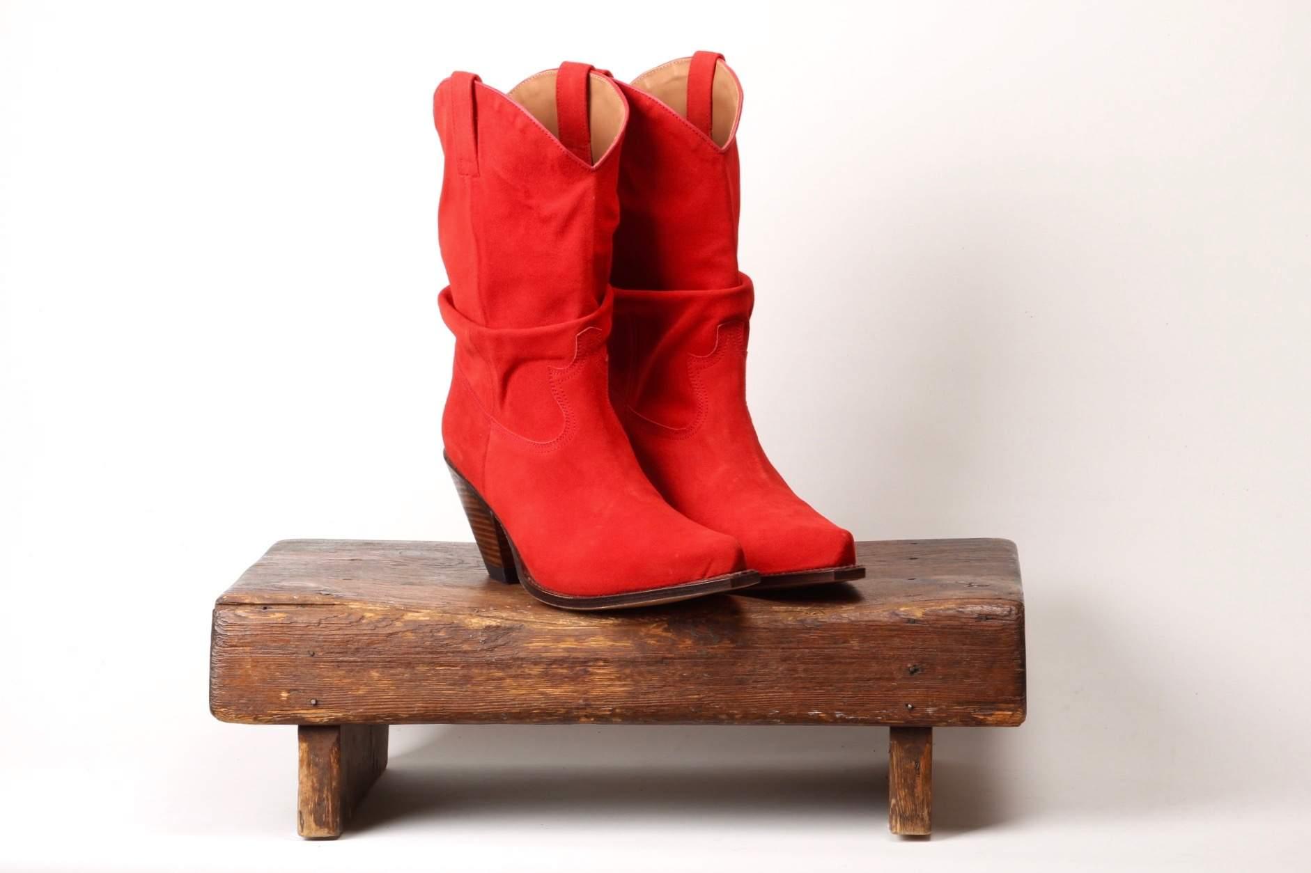 Rød cowboy støvle. Normal i str