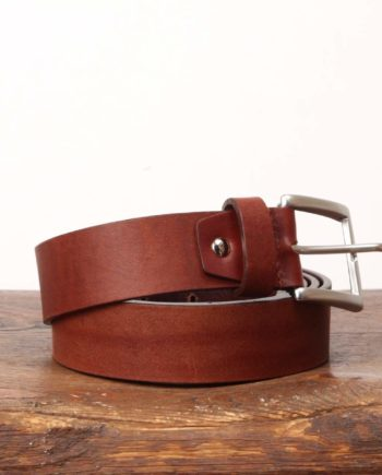 Cognacfarvet læderbælte fra Original Belts