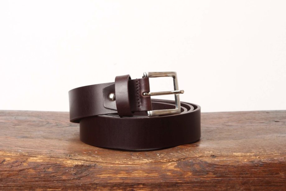 Mørkebrunt læderbælte fra Original Belts