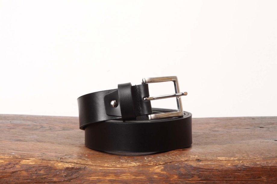 Sort læderbælte fra Original Belts