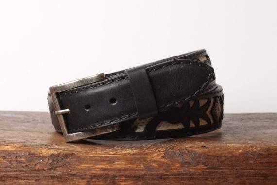 Håndlavet læderbælte