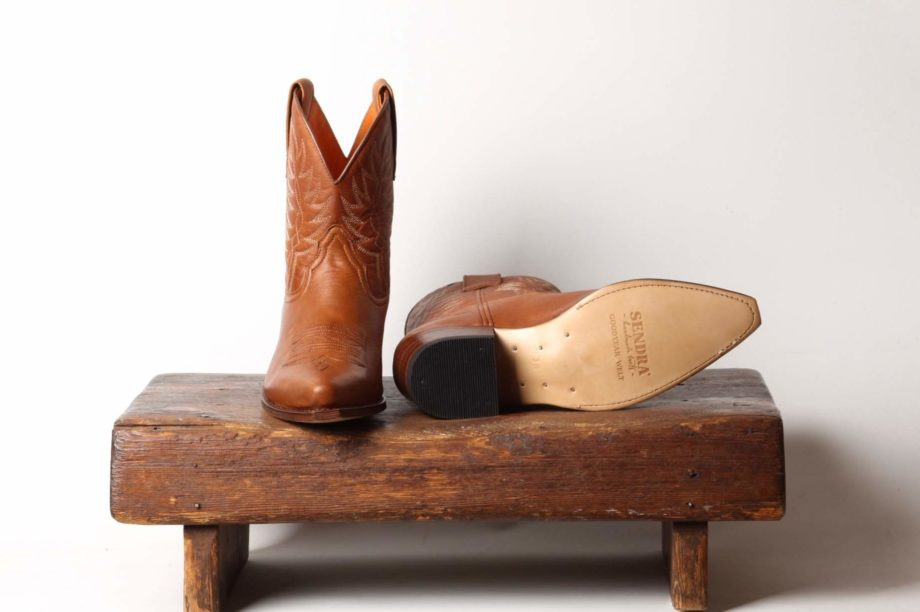 Sendra Brun Mellemhøj cowboystøvle