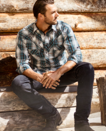 Norman western skjorte modelfoto