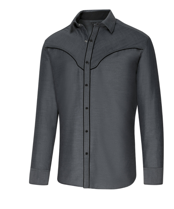 Produktbillede Grå western skjorte