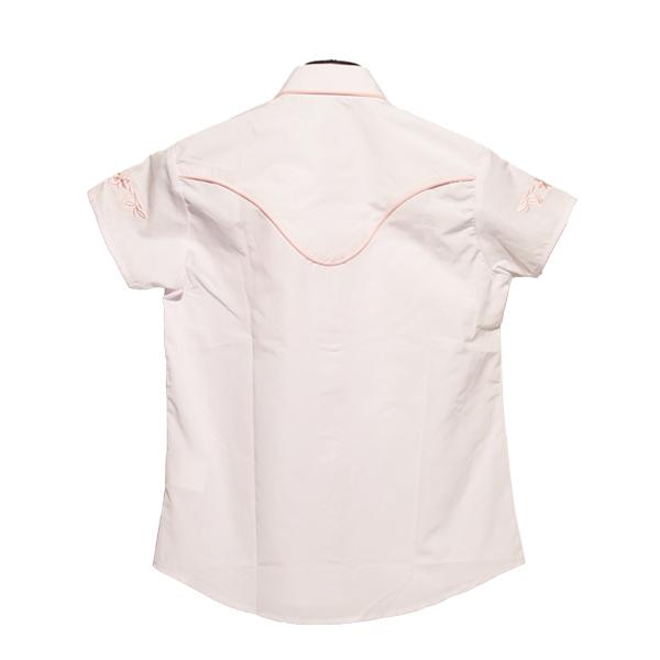 hvid kortærmet skjort bagfra, produktbillede