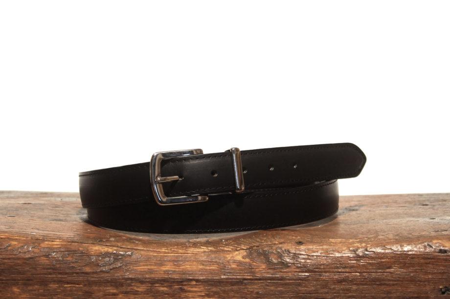Sort klassisk 30mm læderbælte