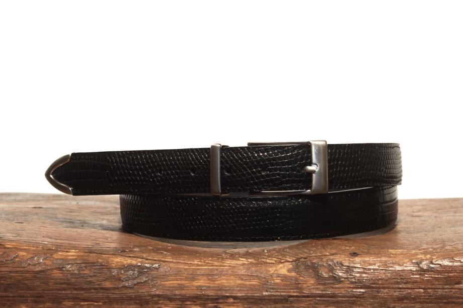 iguana metal tip dress belt
