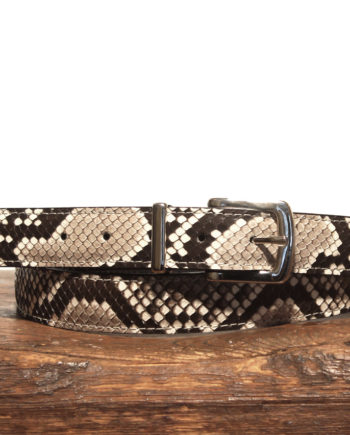 Hvid python bælte 30mm