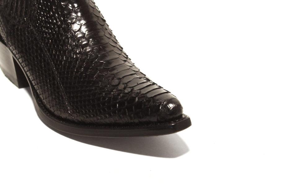 Mayura, lav sort cowboystøvle i python, Pico